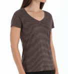 Solitary Stripe V-Neck Tee Image