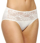 Lace Front Panel Hi Cut Brief Panty