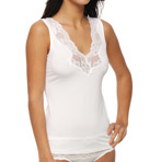 Jones New York Microfiber Lace Trim V-Neck Tank 610249