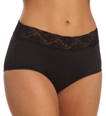 Jones New York Microfiber Wide Lace Trim Full Brief 610347