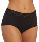Microfiber Wide Lace Trim Full Brief Image