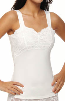 Jones New York Lace Shirred Bodice Camisole