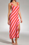 Josie by Natori Sleepwear Indo Stripe Maxie Yarn Dyed Gown S93002
