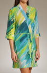 Josie by Natori Sleepwear Lemongrass Wrap Robe S94017