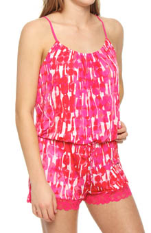 Laila Printed Slinky Romper