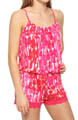 Josie by Natori Sleepwear Laila Printed Slinky Romper T91004