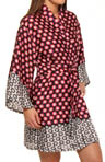 Josie by Natori Sleepwear Princess Cocachin Printed Satin Wrap T94005