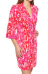 Josie by Natori Sleepwear Laila Printed Slinky Wrap T94016