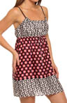 Josie by Natori Sleepwear Princess Cocachin Printed Satin Chemise T98006