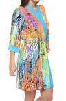 Josie by Natori Sleepwear Scribbles Printed Slinky Wrap U94006
