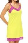 Josie by Natori Sleepwear Essentials Jersey Knit with Lace Chemise U98047