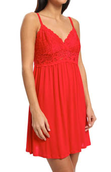 Josie by Natori Sleepwear Femme Modal Jersey with Lace Chemise V98035