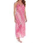 Josie by Natori Sleepwear Ikat Printed Challis Maxi Dress W93019