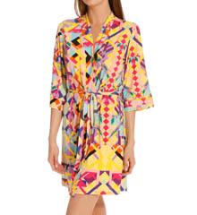 Josie by Natori Sleepwear Rive Gauche Chic Printed Jersey Robe W94202