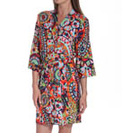 Josie by Natori Sleepwear Hollywood Boho Slinky Jersey Wrap Robe W94207