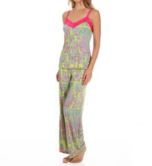 Josie by Natori Sleepwear Glamour Floral Jersey Cami Pajama Set W96013