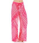 Ikat Printed Challis Pajama Pant Image