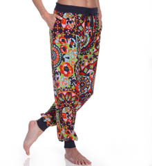 Josie by Natori Sleepwear Hollywood Boho Printed Challis Pant W97308