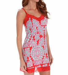 Josie by Natori Sleepwear Glamour Floral Slinky Jersey Chemise W98013
