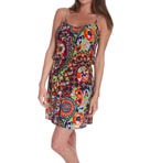 Josie by Natori Sleepwear Hollywood Boho Printed Challis Skimmer W98101
