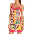 Josie by Natori Sleepwear Rive Gauche Chic Printed Chemise with Lace W98102