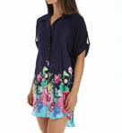 Josie by Natori Sleepwear Rimma Printed Satin Tunic X92301