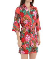 Josie by Natori Sleepwear Raya Printed Slinky Jersey Wrap X94280