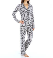 Josie by Natori Sleepwear Katya Printed Modal Pajama Set X96133