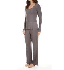 Josie by Natori Sleepwear Femme Solid Modal Jersey Pajama Set X96290