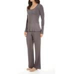 Femme Solid Modal Jersey Pajama Set Image
