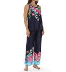 Rimma Printed Satin Tank Pajama Set Image