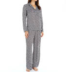 Prism Printed Satin Pullover Pajama Set Image