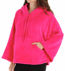 Josie by Natori Sleepwear Coral Fleece Hooded Pullover X99140