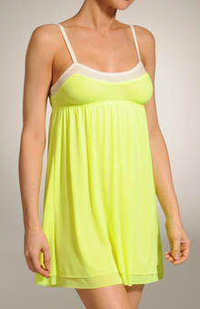 Contrast Trim Mesh Nightie