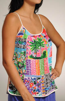 Silk Brushstroke Print Cami
