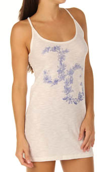 Graphic Slim Sleep Tank Nightie