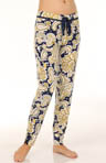 Modal Paisley Print Pant With Lace Detail