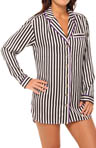 Dot And Stripe Sleep Shirtdress