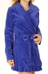 Velour Robe With Ruffle Trim