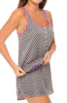 Dot And Stripe Sleep Nightie And Eyemask Set