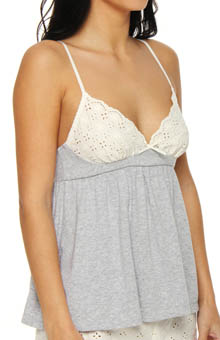 Eyelet and Knit Camisole