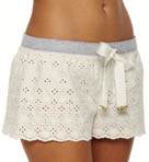 Eyelet Short with Knit Drawstring Waistband