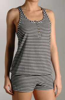 Juicy Couture 9JMUS368 Striped Henley Romper