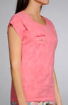 Juicy Couture Summer Evening Prep Raglan Tee w/ Ruffle Pocket 9JMUS787