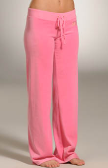 Velour Sequin Drawstring Pant