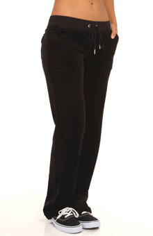 Velour J Bling Bootcut Pant With Snap Pockets