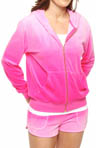 Ombre Velour Relaxed Hoodie