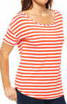 Juicy Couture Basic Knits Stripe Malibu Tee JG008045