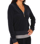 Juicy Couture Velour Long Sleeve Zip Hoodie JGM00001