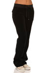 Juicy Couture Velour Bootleg Pant With Snap Pockets JGM00055